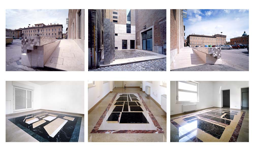 Site-specific art in architecture projects: Nicola Carrino e Marco Tirelli